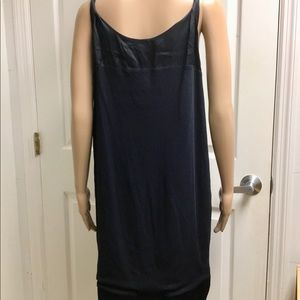 Jil Sander Dresses - Jil Sander navy silk straps cotton dress size L